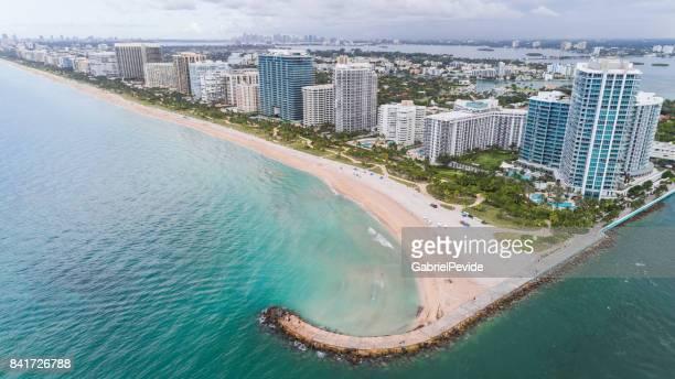 Aerial View Bal Harbour Beach