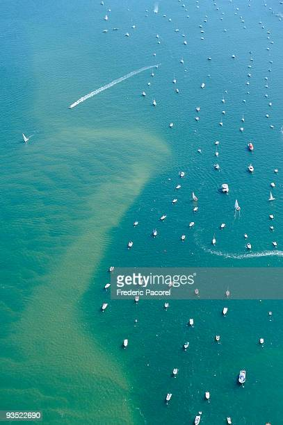 Aerial view, bay of Arcachon, Gironde, France