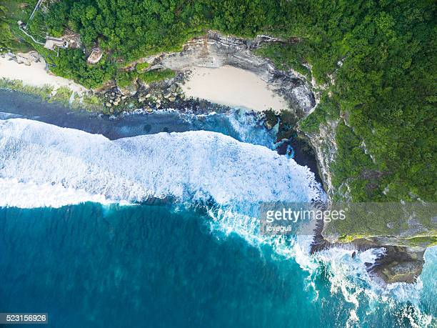 Aerial view beach in bali