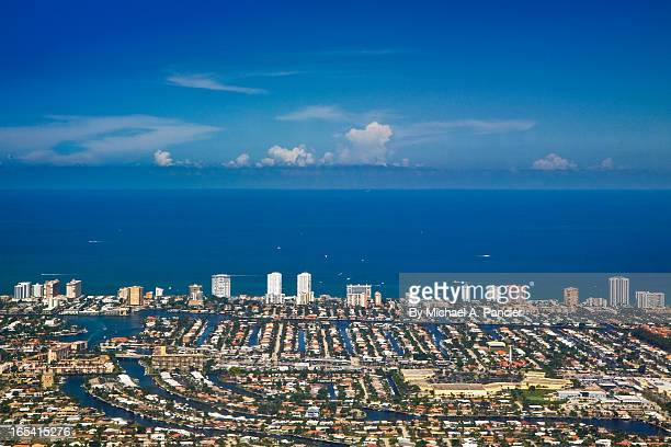aerial view broward county - fort lauderdale stock pictures, royalty-free photos & images