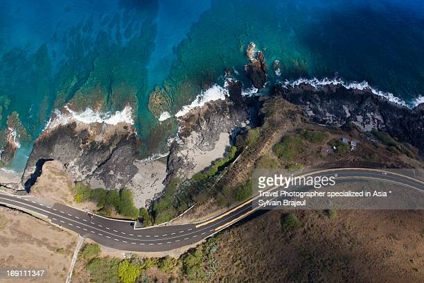 aerial view cap de la houssaye - reunion island - isla reunion fotografías e imágenes de stock