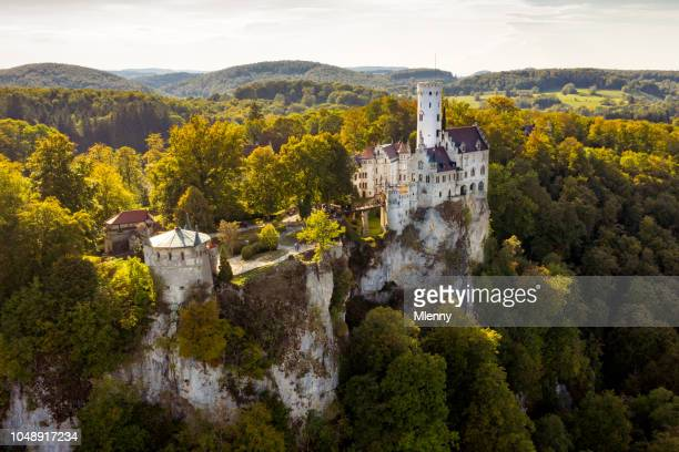 Aerial View Castle Lichtenstein Schloss Lichtenstein Swabian Alb