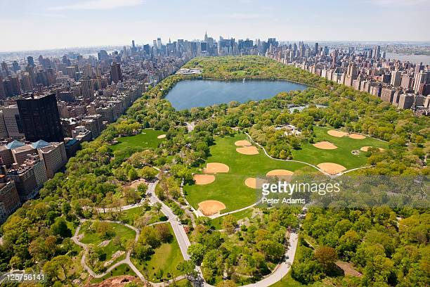 Aerial View Central Park, Manhattan, New York, USA
