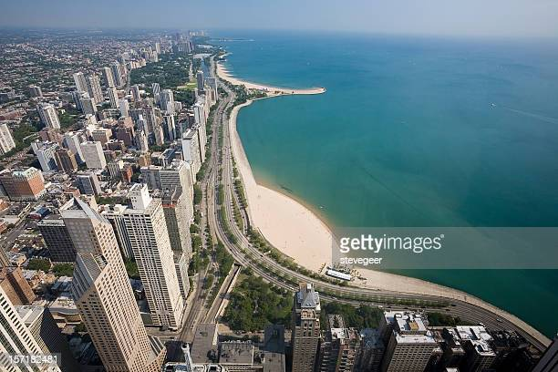 Aerial View. Chicago Gold Coast