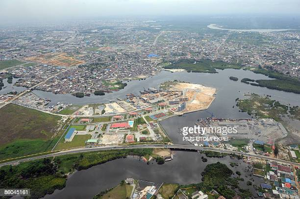 Aerial view dated on April 14 2009 shows Port Harcourt in River State the commercial capital Niger Delta AFP PHOTO / PIUS UTOMI EKPEI