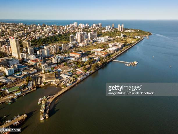aerial view, downtown of maputo, mozambique - maputo city stock pictures, royalty-free photos & images