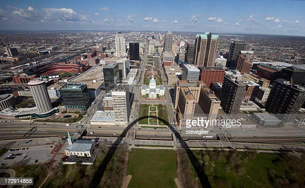 Aerial View Downtown Saint Louis