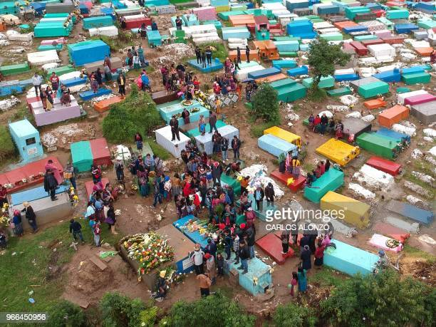 Aerial view during the funeral of Claudia Gomez a 19yearold Guatemalan woman who was allegedly shot and killed by a US border patrol agent at the...
