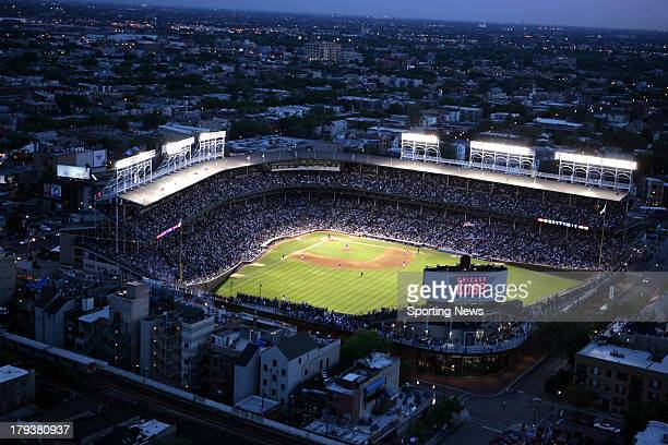 Aerial view during the game between the Cincinnati Reds and the Chicago Cubs on May 31, 2006 at Wrigley Field in Chicago, Illinois.