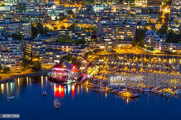 Aerial view, False Creek, Vancouver