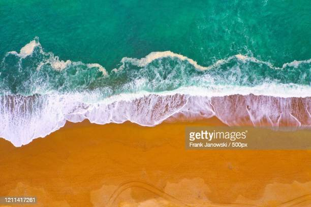 aerial view for beach and waves - images stock pictures, royalty-free photos & images