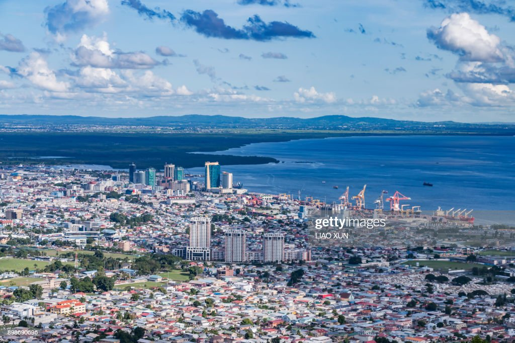 Aerial View - Fort George - Port of Spain : Stock Photo