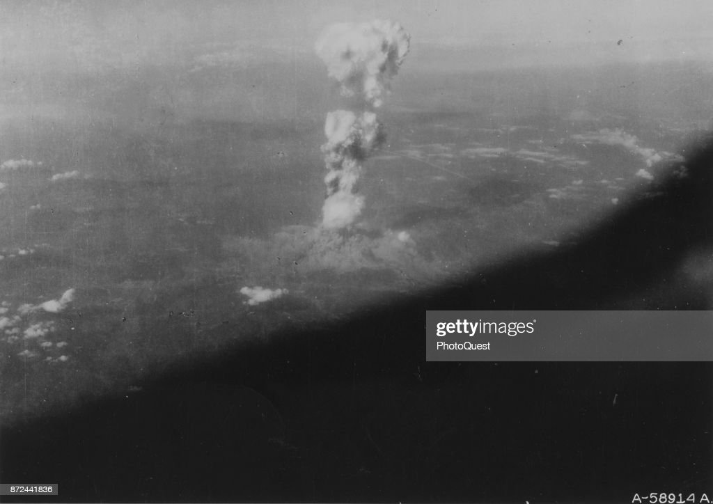 Atomic Detonation Over Hiroshima : News Photo