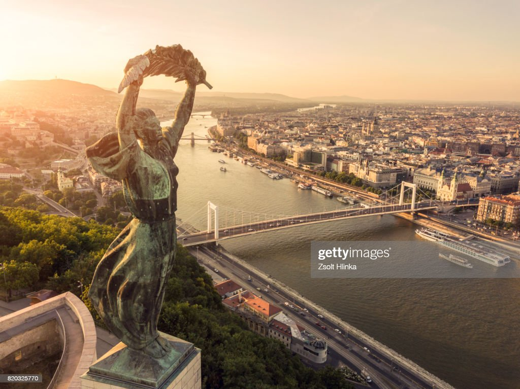 Aerial view from Budapest : Stock Photo