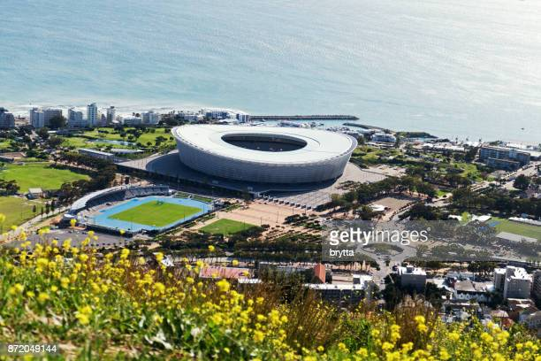 Aerial view from Cape Town Stadium, South Africa