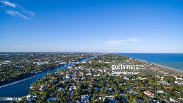 aerial view from delray beach, florida - delray beach stock pictures, royalty-free photos & images