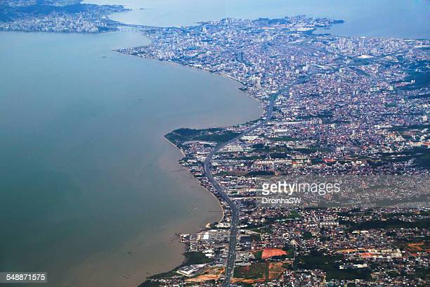 Aerial view from Florianopolis.