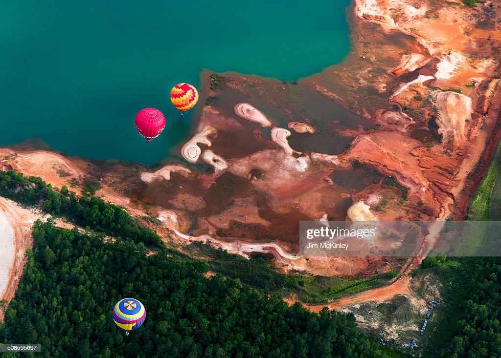 Aerial view from hot air balloon : Foto de stock