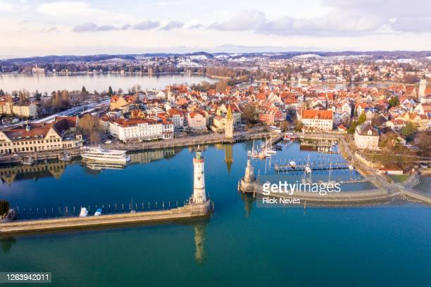 aerial view from lindau - germany - bavaria stock pictures, royalty-free photos & images