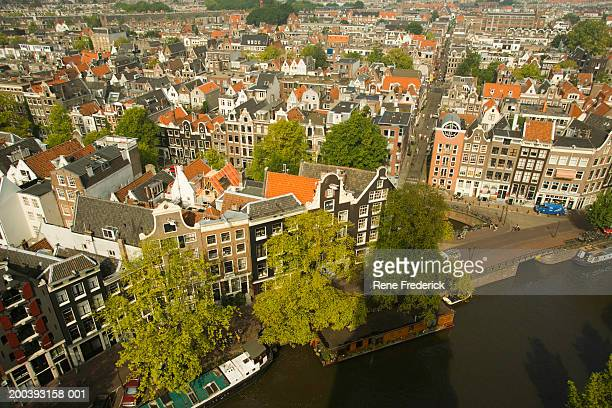 Aerial view from Tower, Westerkerk Dutch Protestant Church