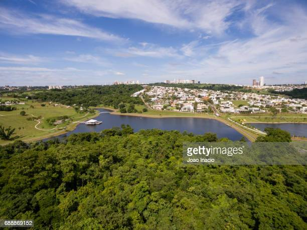 aerial view goiania skyline - goiania stock pictures, royalty-free photos & images