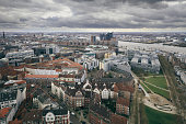 aerial view hamburg germany
