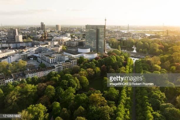 aerial view, hofgarten and city centre, duesseldorf, germany - düsseldorf stock-fotos und bilder