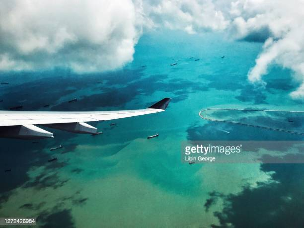 aerial view in fiji - fiji stock pictures, royalty-free photos & images
