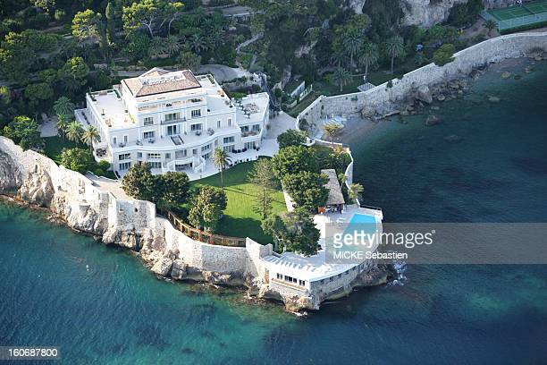Aerial view in SaintJeanCapFerrat a house near Hollywood estimated 200 million euros transformed into sumptuous guest house for Vip