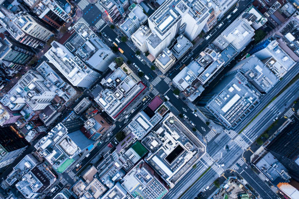 aerial view in urban areas. - city management stock pictures, royalty-free photos & images