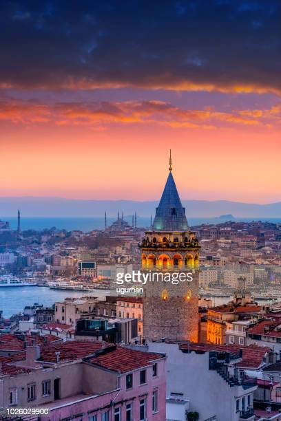 aerial view istanbul - istanbul stock pictures, royalty-free photos & images