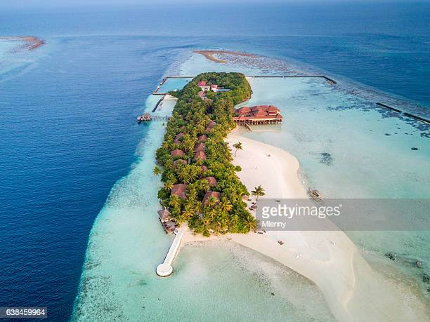 Aerial View Maldives South Ari Atoll Island