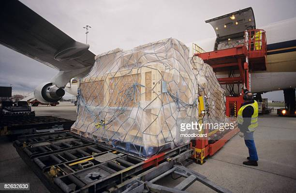 aerial view melbourne airport, australia - box container stock pictures, royalty-free photos & images