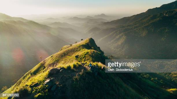 Aerial view Mountain Little Adam's Peak in Sri Lanka