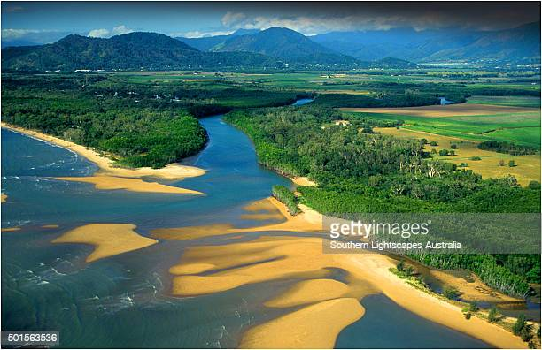 Aerial view near Cairns, North Queensland, Australia.