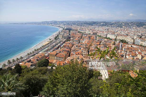 Aerial view, Nice, Cote d'azure, France