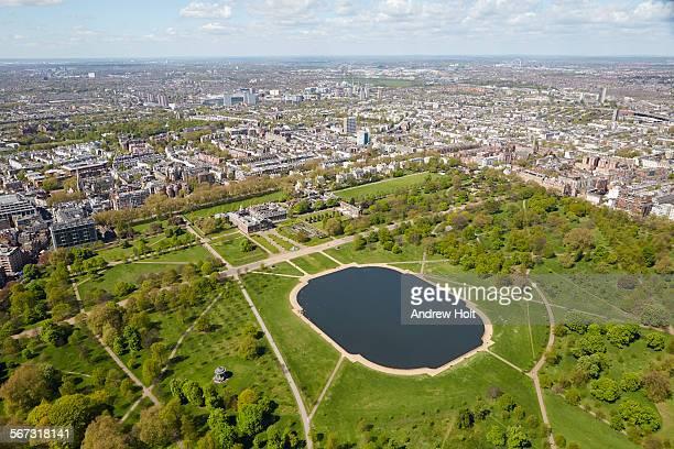 aerial view north-west of kensington palace - kensington palast stock-fotos und bilder