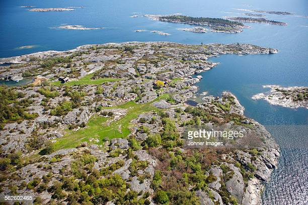 Aerial view od sea coast