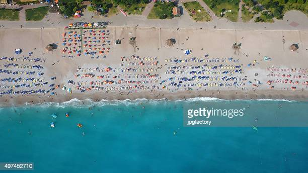 aerial view of a beach from above
