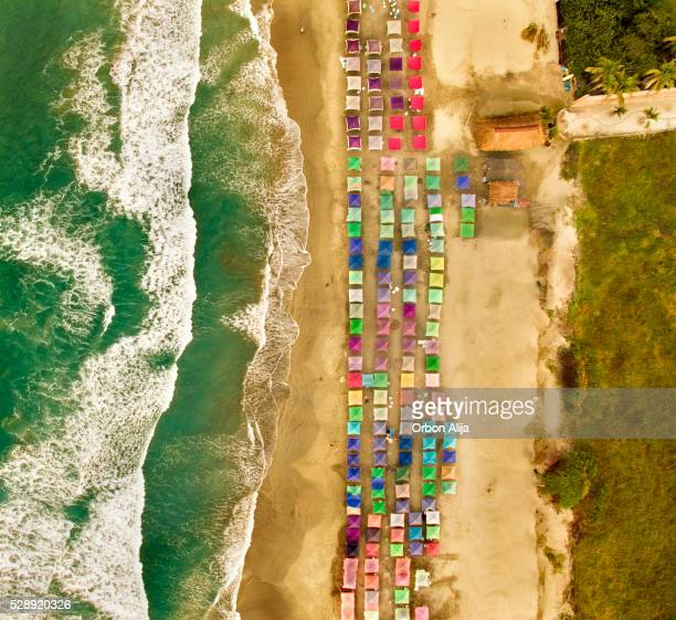 Aerial view of a beach in Mexico