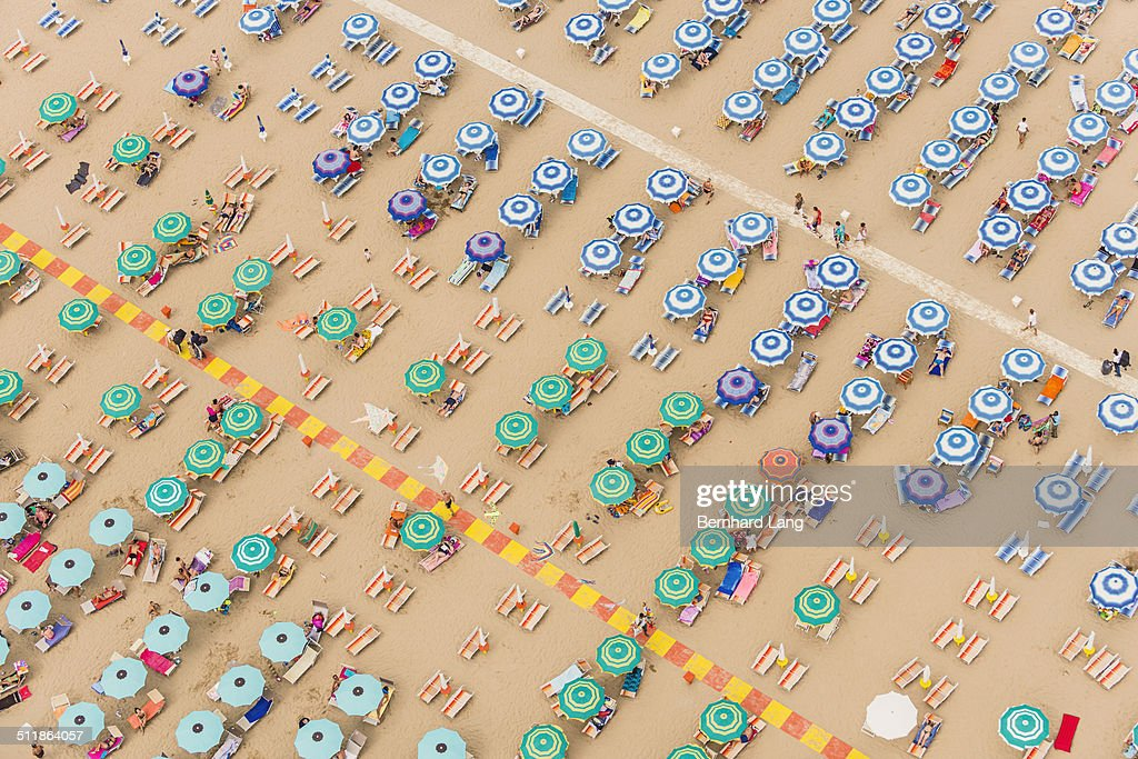 Aerial View of a beach resort in Italy : Stock Photo