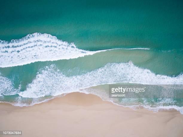 aerial view of a beach, western australia, australia - western australia stockfoto's en -beelden