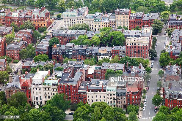 Aerial View of a Boston City Residential District