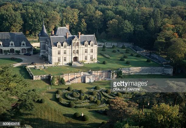 Aerial view of a Chateau Pays de Loire France
