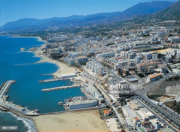 Aerial view of a city Marbella Andalusia Spain