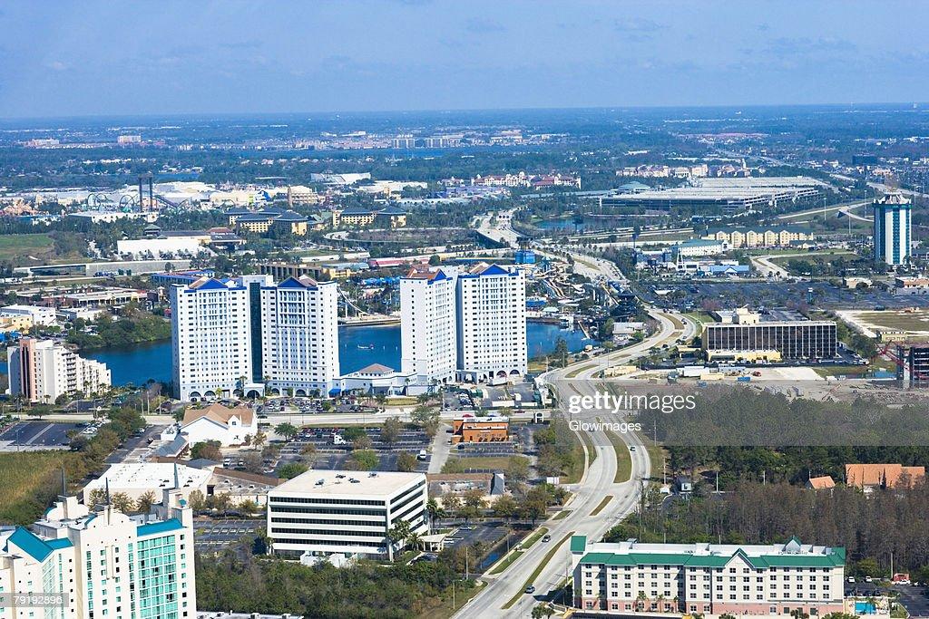 Aerial view of a city, Orlando, Florida, USA : Foto de stock