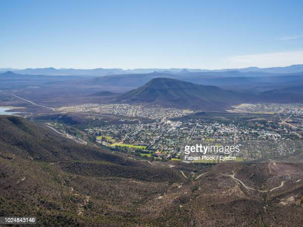 aerial view of a city - eastern cape stock pictures, royalty-free photos & images