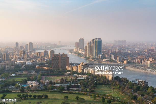 aerial view of a city - cairo stock pictures, royalty-free photos & images
