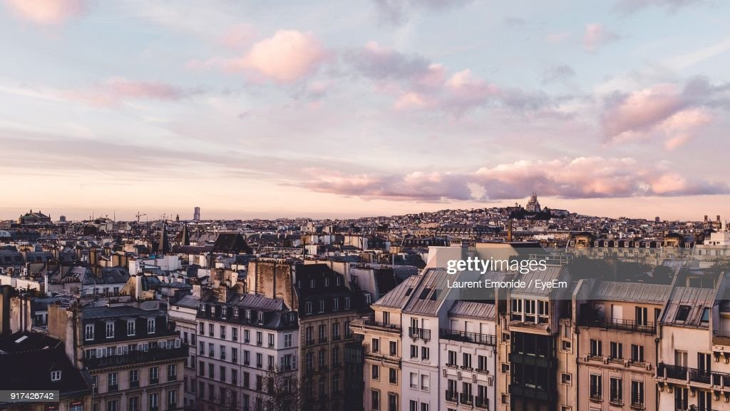 Aerial View Of A City : Stock Photo