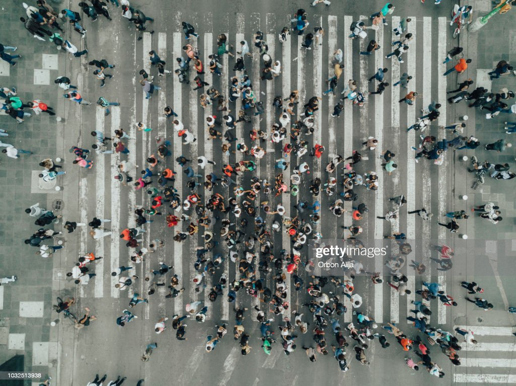 Aerial View of a Crossing in Mexico City : Stock Photo